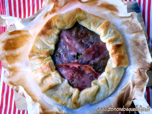 torta salata cicoria mortadella1