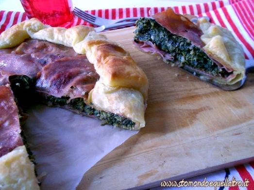 torta salata cicoria mortadella3