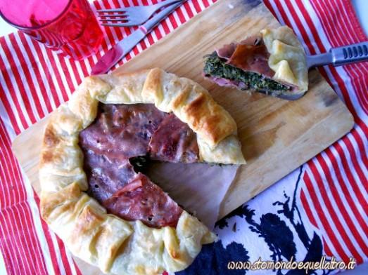 torta salata cicoria mortadella4